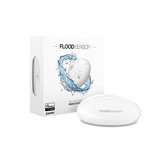 Fibaro FGFS-101 ZW5 FGFS101ZW5 Flood Sensor, Z-Wave Plus Water Leak...