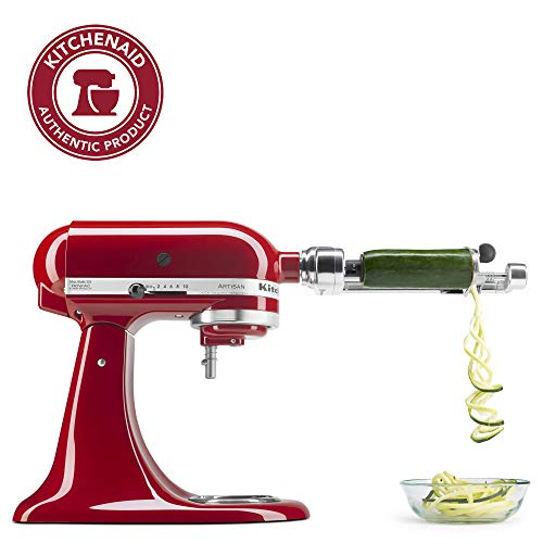 KitchenAid KSM1APC Spiralizer Attachment, 1″, Silver
