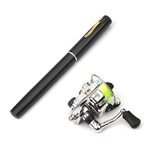 Lixada 1 Mt / 1,4 Mt Tasche Faltbare Angelrute Reel Combo Mini Pen Angelrute Kit Teleskop Angelrute Spinnrolle Combo Kit