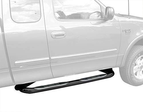 Tyger Auto Compatible with 97-03 F150/250 LD Super Cab/97-98 Super Cab Black 3' Side Step Rails Nerf Bars Running Boards(2pcs with Mounting Bracket Kit)