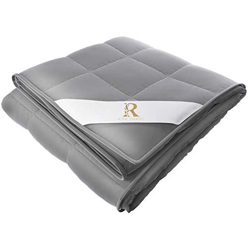 Royal Therapy Weighted Blanket with Glass Beads (60''x80'' 20lbs, French Grey)