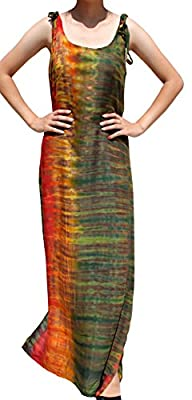 Hand made under Fair Trade conditions Light summer viscose rayon, tie dyed by hand Loose Fitting for extra comfort