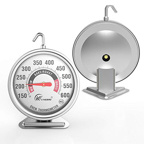 """Large 3"""" dial oven thermometer - KT THERMO (2019 New Design) NSF-approved accurately easy-to-read extra large clearly display shows marked temperatures for Professional and Home Kitchens Cooking (1)"""
