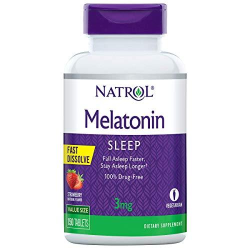 Natrol Melatonin Fast Dissolve Tablets, Helps You Fall Asleep Faster