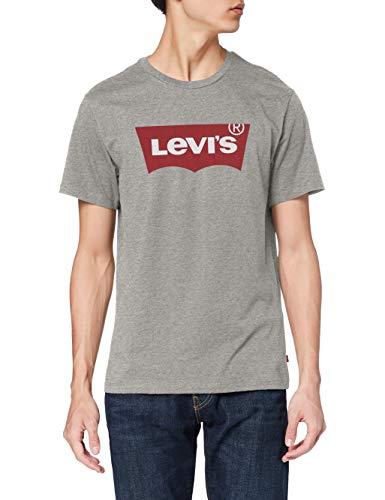 Levi's Set-in Neck T-Shirt, Graphic H215 Midtone Htr Grey, XXS Uomo