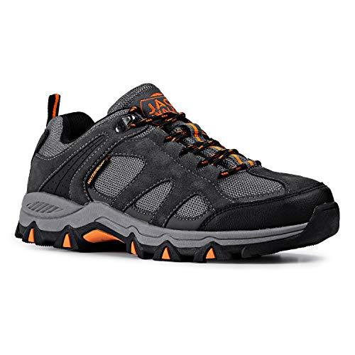 Hombres Zapatillas Senderismo Trail Mount Low Zapatillas Impermeable De Senderismo Trekking para Hombre ventilación de Baja Altura JW010 Jack Walker (43 EU)