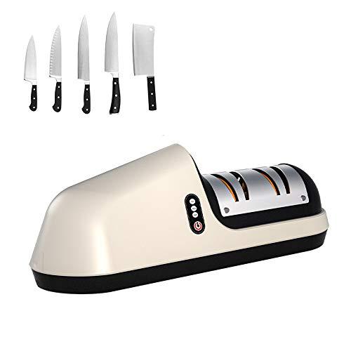 Elektrischer Messerschärfer, professioneller Küchenmesserschärfer, kabellos, wiederaufladbar, für alle Arten von Messern geeignet, Küchenchef, mit feiner, breiter Kerbe