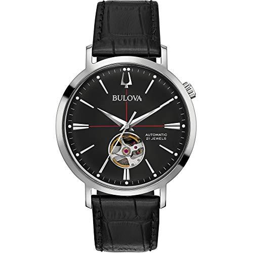 Bulova Reloj Analógico para Hombre de Automático con Correa en Cuero 96A201