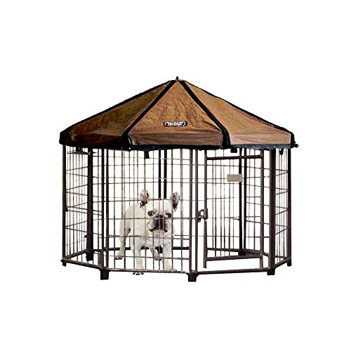 Advantek Original Small Portable Indoor Outdoor Metal Pet and Dog Gazebo with Weatherproof Reversible Cover