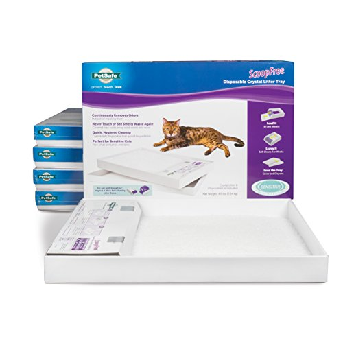 PetSafe ScoopFree Self-Cleaning Cat Litter Box Tray Refills with Sensitive Non-Clumping Crystals - 6 Pack