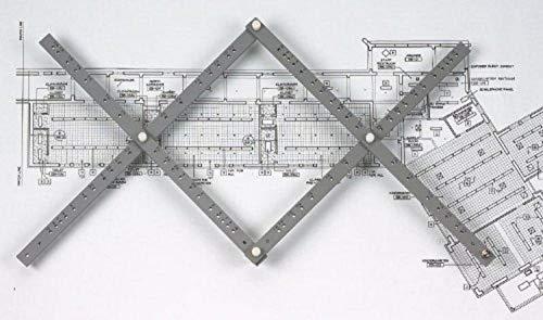 Alvin, PA306, Herramienta de Dibujo de pantógrafo de Madera con Abrazadera de Mesa y Cuatro Cables de Repuesto, 21 Pulgadas, 25 velocidades