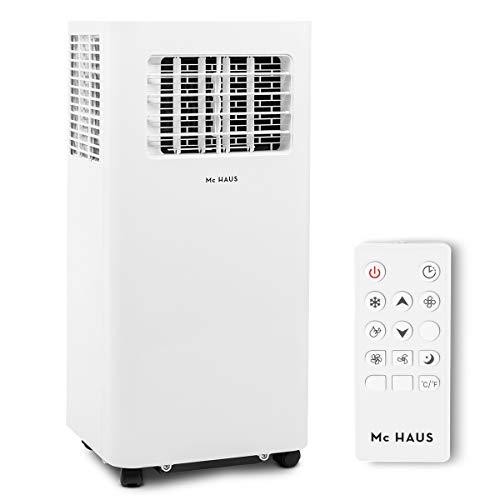 Mc Haus ARTIC-16 - Climatizzatore portatile 7000BTU pinguino classe energetica A ecologico, 3 in 1: raffreddamento, ventilazione e deumidificazione, aria condizionata, telecomando, 20m2, bianco