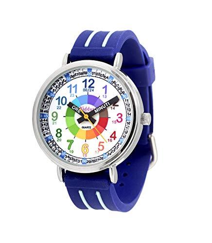 Orologi educativi KIDDUS per bambini, ragazze. Orologio da polso analogico con esercizi per imparare...