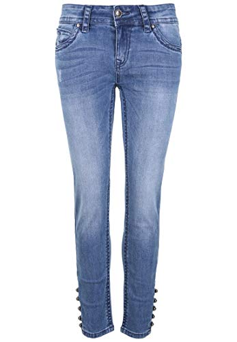 Blue Monkey Damen Jeans Laura 30148 Knöpfe