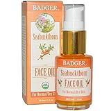 Badger Company, Seabuckthorn Face Oil, For Normal/Dry Skin, 1 fl oz (29.5 ml) - 2pc