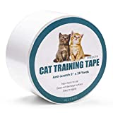 Jxselect Anti-Scratch Cat Training Tape, Cat Scratch Prevention Tape for Furniture,Couch,Door,Carpet,Pet Scratch Protector, 3 Inches x 30 Yards …
