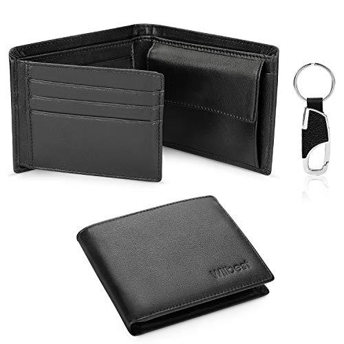 Wilbest Portefeuille Homme en cuir,RFID Blocage, Porte Monnaie avec...