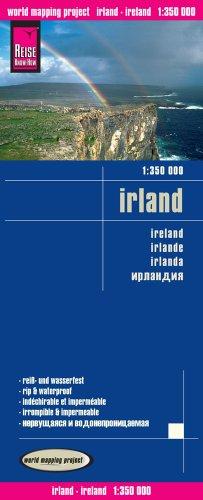 Irlanda, mapa de carreteras impermeable. Escala 1:200.000. Reise Know-How. (1350)