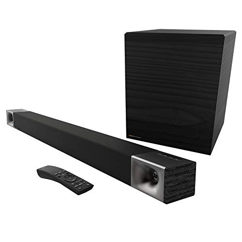 Klipsch Cinema 600 Sound Bar 3.1 Home Theater System with HDMI-ARC for Easy Set-Up, Black