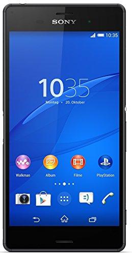 "Sony Xperia Z3 - Smartphone Android de 5.2"" (Full HD 1920 x 1080 p, Qualcomm Snapdragon 2.5 GHz, cámara 20.7 MP), Negro"