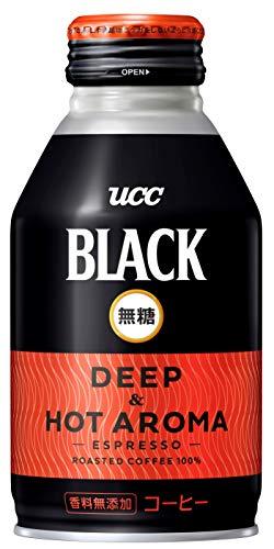 UCC ブラック無糖 DEEP & HOT Aroma 缶コーヒー 275g ×24個
