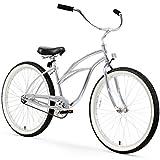 Firmstrong Urban Lady Single Speed - Women's 26' Beach Cruiser Bike (Chrome)