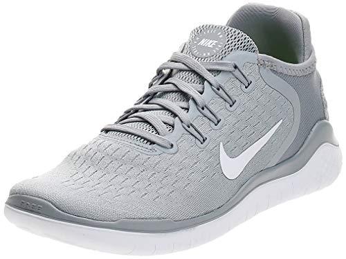 Nike Damen WMNS Free Rn 2018 Laufschuhe, Mehrfarbig (Wolf Grey/White/White/Volt 003), 36 EU