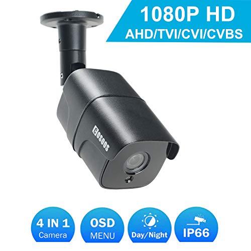 COSOOS Videocamera Bullet da Interno/Esterno 1080P, Hybrid 4-in-1 2.0MP AHD/TVI/CVI / 960H Analog CVBS Resistente agli Agenti atmosferici Telecamera di sorveglianza CCTV Resistente