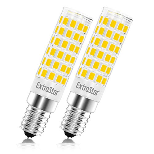 Lampadina LED E14, 5W (equivalenti a 40 W),3000K,luce bianca calda,base in ceramica, piccola vite...