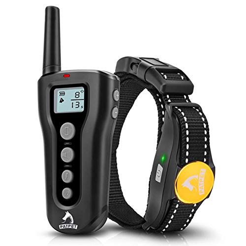 PATPET Dog Shock Collar with Remote - 1000ft Range Shock Collar for Dogs IPX7 Waterproof No Harm Dog Training Collar Fast Training Effect for Small Medium Large Dogs