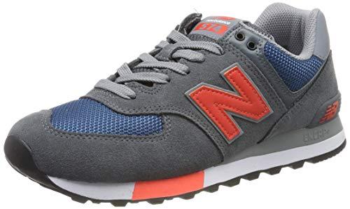 New Balance Herren ML574 D Sneaker, Grau (Grey/Blue Grey/Blue), 43 EU