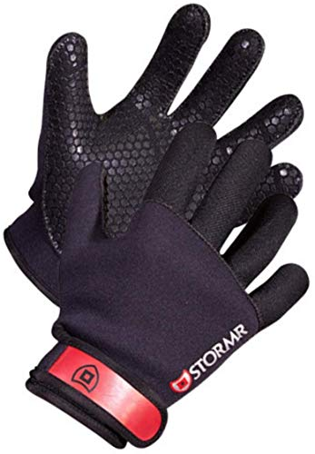 Stormr Strykr 2mm Neoprene Mens and Womens Glove - Fully Lined Micro-Fleece Gloves with Adjustable...
