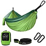 Starlight Mountain Outfitters Double Camping Hammock – Portable Lightweight Parachute Nylon with Tree Straps, Best Hammock for Backpacking, Hiking, Camping, Outdoors Travel