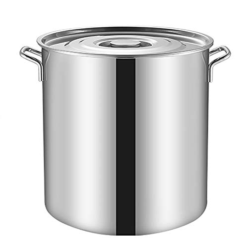 Pentole fumanti Stock Pentola, 6-70L, Commerciale, Benna per minestra in acciaio inox 304, secchio in umido/secchio in pentola/secchio di stoccaggio dell'olio con coperchio per stufa a gas/a ind