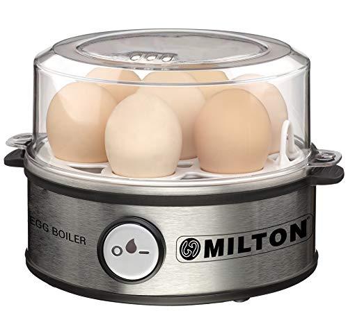 MILTON Smart Egg Boiler - 360 Watt (Transparent and Silver Grey) - Boil Up to 7 Eggs