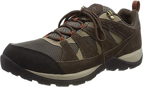 Columbia Redmond V2, Zapatos de Senderismo Impermeables Hombre, Marrón (Mud, Dark Adobe), 41 EU
