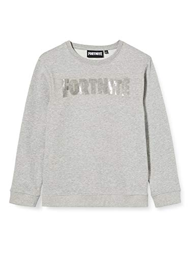 ARTESANIA CERDA Brush Fleece Fortnite-2200005068 Sudadera, Gris (Gris C13), 14A para Niños
