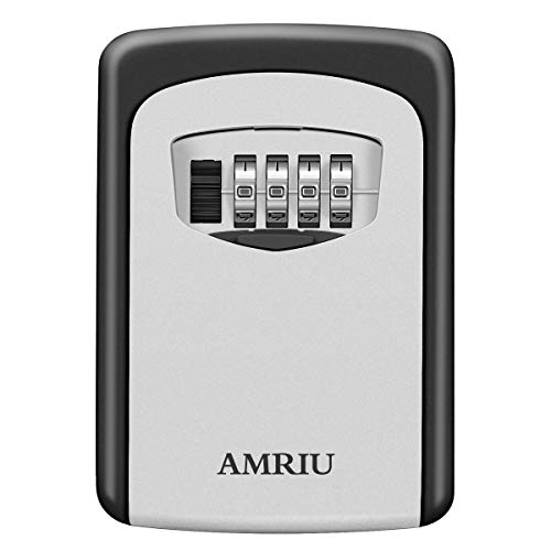 AMRIU Key Lock Box Storage Combination Realtor Key Safe Box...