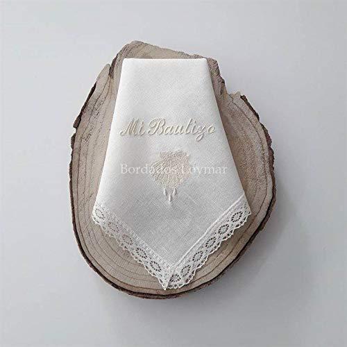 Pañuelo/Paño de Bautizo Personalizado con Nombre y Fecha B