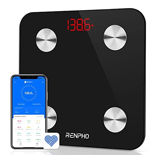 Báscula Grasa Corporal Bluetooth RENPHO con 13 Funciones, Báscula de...