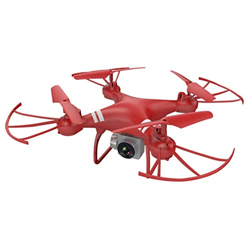 Drone 4K Drone WiFi Trasmissione in Tempo Reale RC Drone con Drone Pieghevole 4K UHD Camera(Rosso)