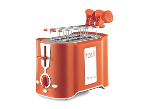 Ariete 124 Tost - Tostapane 2 fette, Pinze acciaio inox, Vassoio raccoglibriciole removibile,...