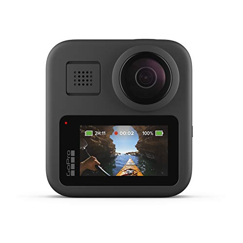 GoPro Max - Fotocamera Digitale Impermeabile 360 Con Stabilizzazione Infrangibile, Touch Screen e Controllo Vocale - Streaming Live Hd, Nero