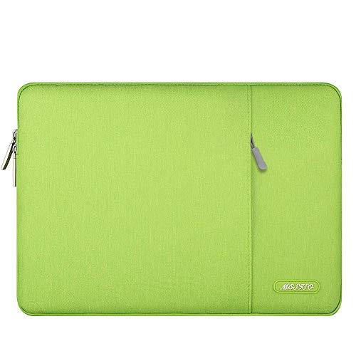 MOSISO Tablet Sleeve Case Compatible with 2020 iPad Pro 11 inch, iPad 7 10.2 2019, 10.5 iPad Air 3, 10.5 iPad Pro, 9.7 iPad, Surface Go, Samsung Galaxy Tab, Polyester Vertical Pocket Bag, Greenery