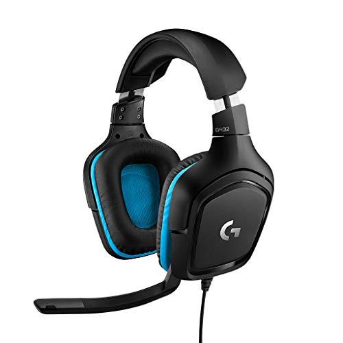 Logitech G432, Casque Gaming avec son Surround 7.1, Transducteurs 50 mm, DTS Headphone:X 2.0, Micro avec Fonction Sourdine Flip-up