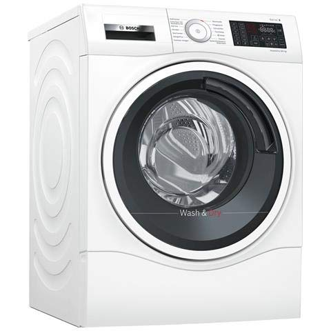 Bosch Serie 6 WDU28540IT lavasciuga Caricamento frontale Libera installazione Nero, Bianco A