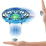 【Disco volante a induzione a infrarossi】 Il veicolo UFO è un quadricottero a induzione a infrarossi che controlla l'aereo attraverso il palmo della mano o altri ostacoli. Perfetto giocattolo per bambini per interni ed esterni. È anche adatto per il g...