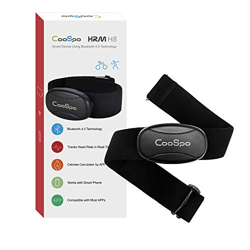 CooSpo Bluetooth Heart Rate Monitor Sensor with Chest Strap Waterproof IP67 NO ANT+