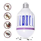 GLOUE Bug Zapper Light Bulb Medium Screw E26 Base 120V 10W Zap Wasp Bug Mosquito Zapper Led UV Lamp Flying Moths Killer
