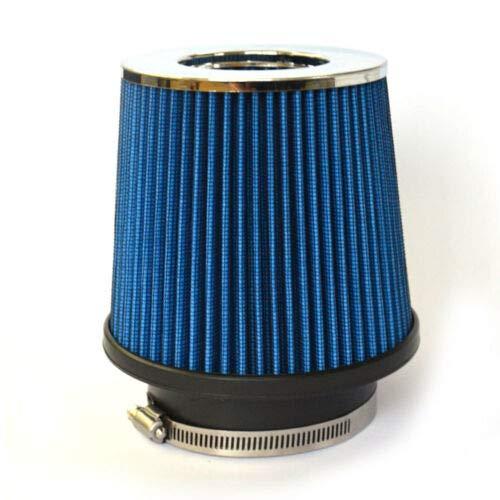 Lizudian 3' Inlet Short Ram Cold Air Intake Round Cone Air Filter Chrome Bule Sidewall 35.45 lbs